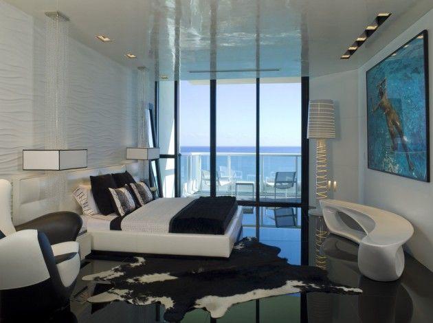 Des idées de design moderne pour une grande chambre à coucher