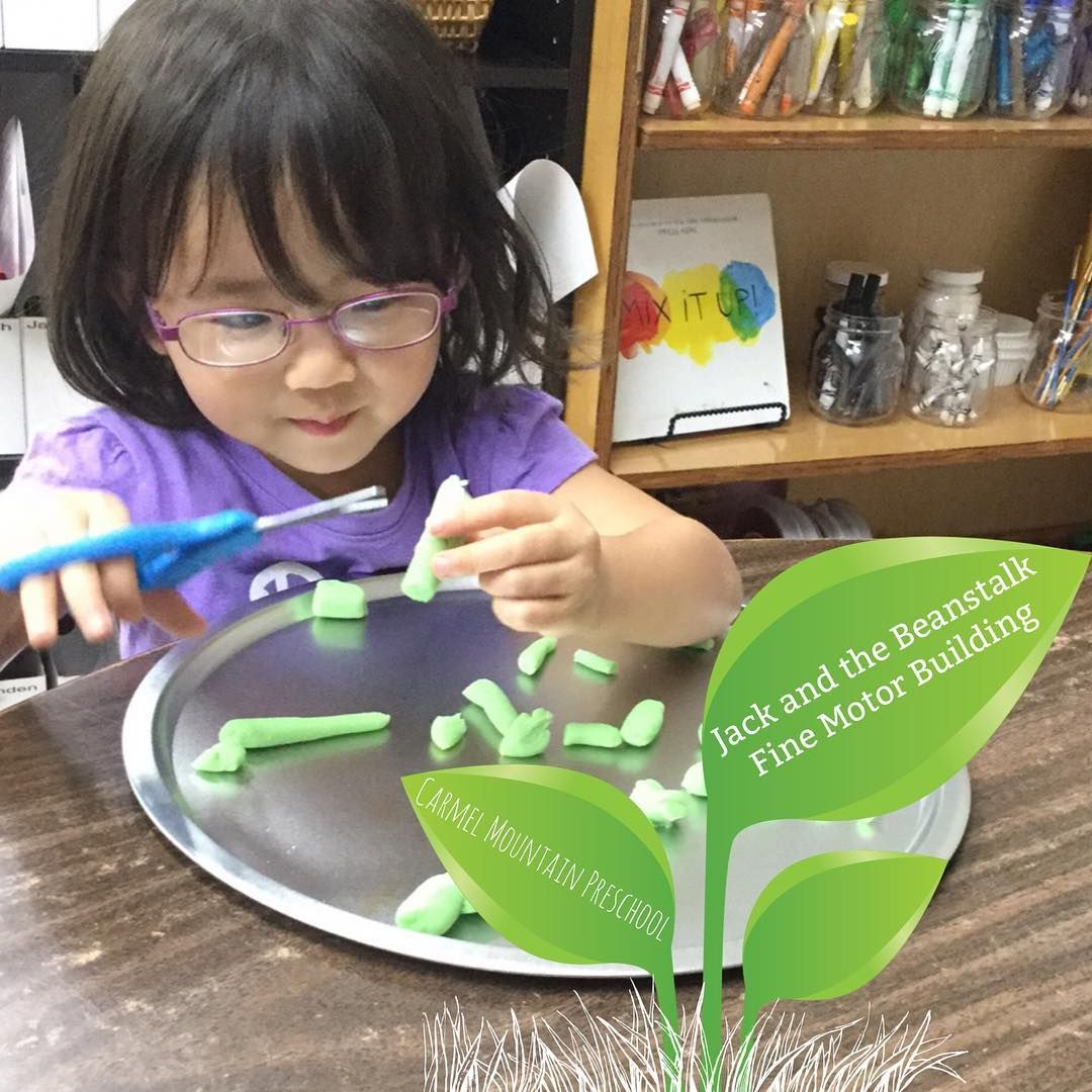 Bean Stalk Snipping Fine Motor Activity For Jack Amp The