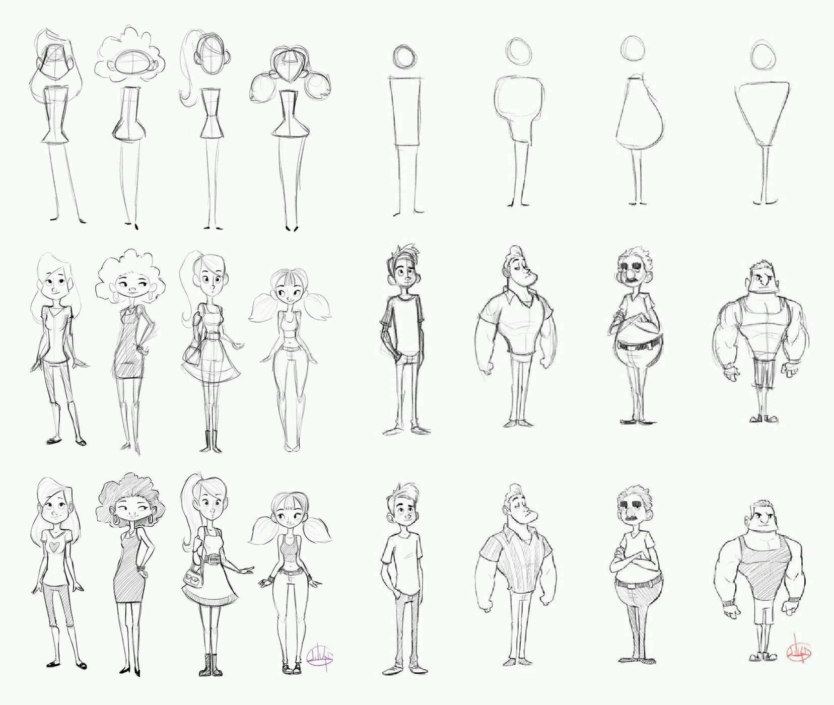 Luigi Lucarelli Cartoon Character Design Cartoon Body Character Design