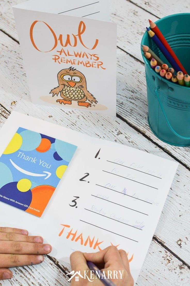 With this free printable thank you note for teacher appreciation, your kids can write