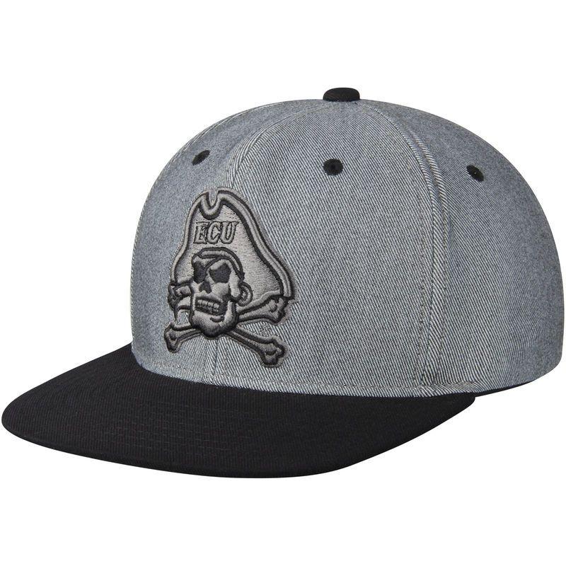 78604694c62 East Carolina Pirates adidas Two-Tone Tonal Adjustable Snapback Hat -  Gray Black