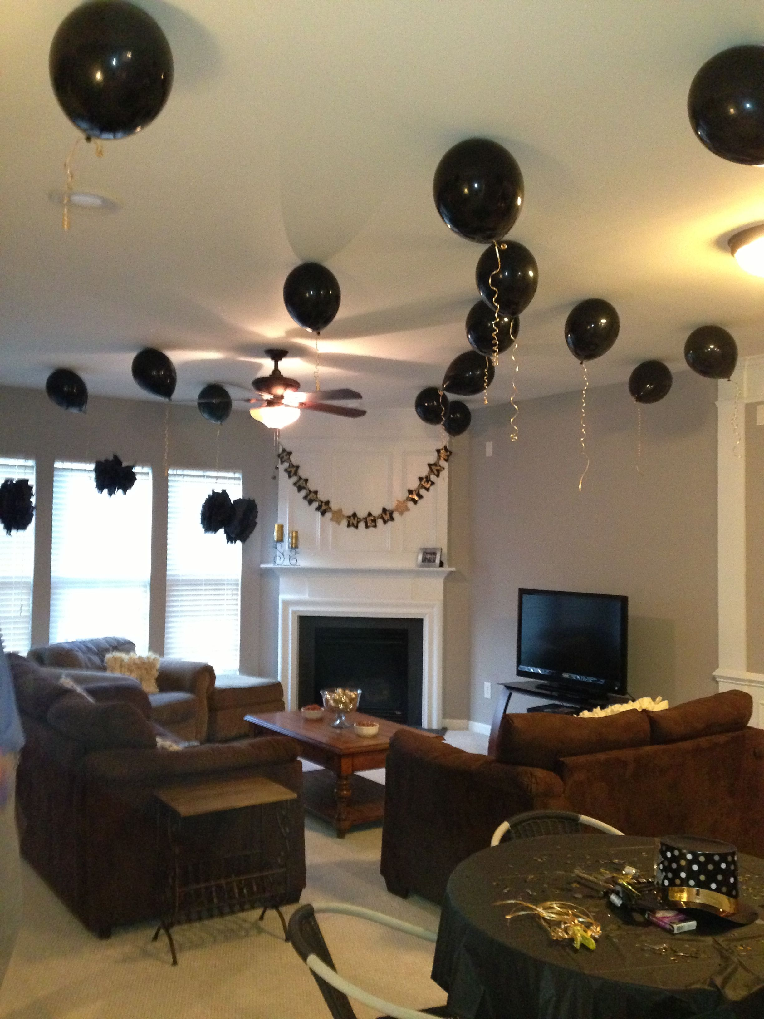 House party decorations, ballons and banner! | House party ...