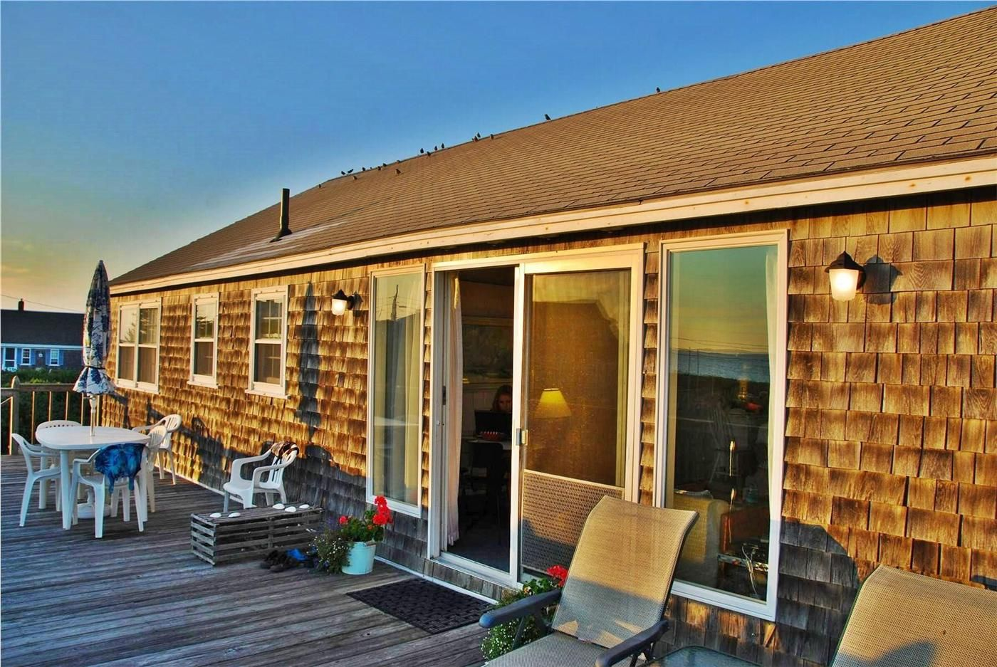 Beautiful large deck overlooking the bay truro id 22785