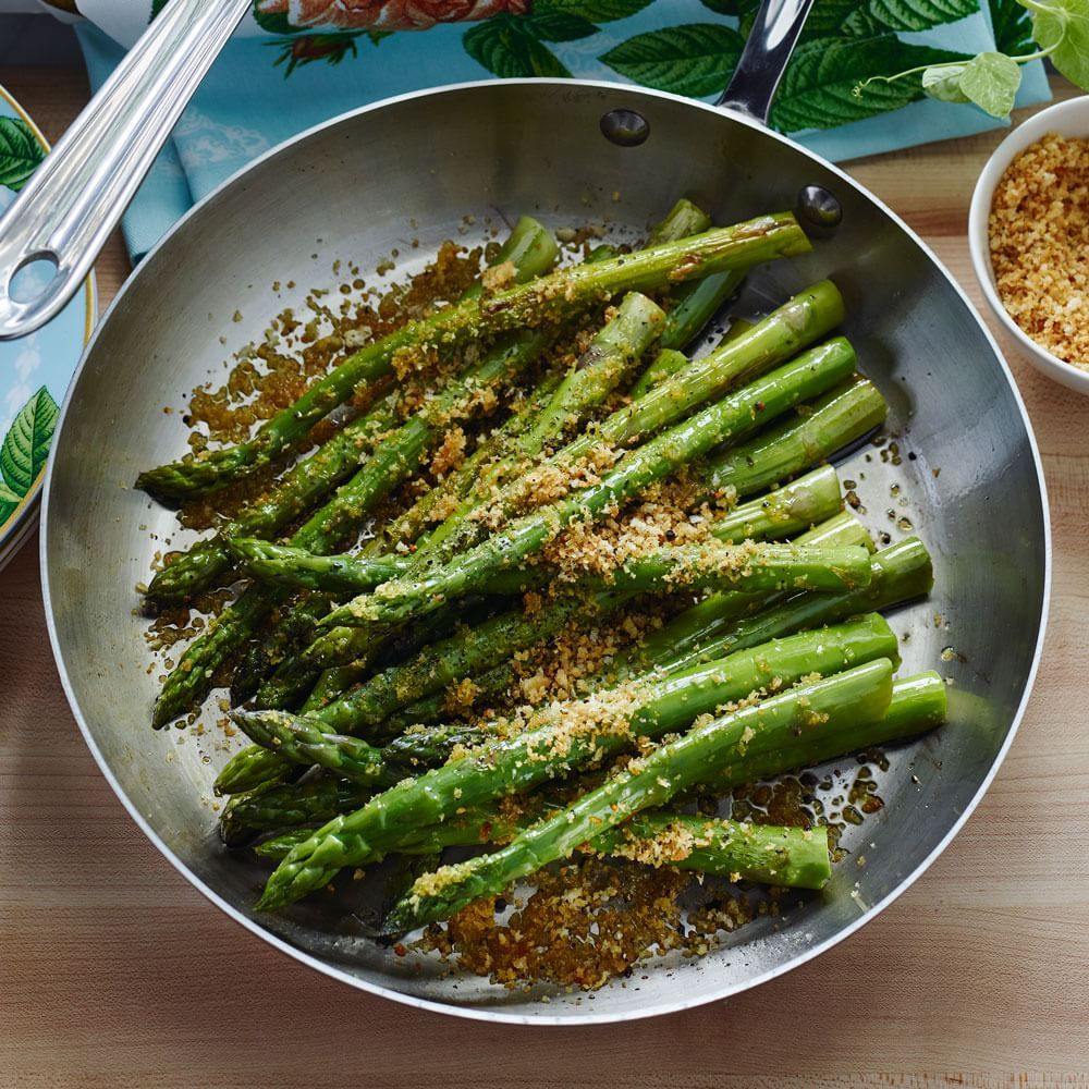 Panroasted Asparagus With Garlic And Lemon Zest  Williamssonoma