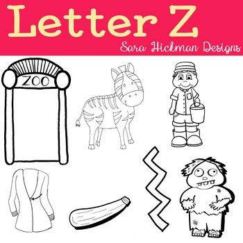 Chubby Cheek Clipart Letter Z Black And White Only Sara