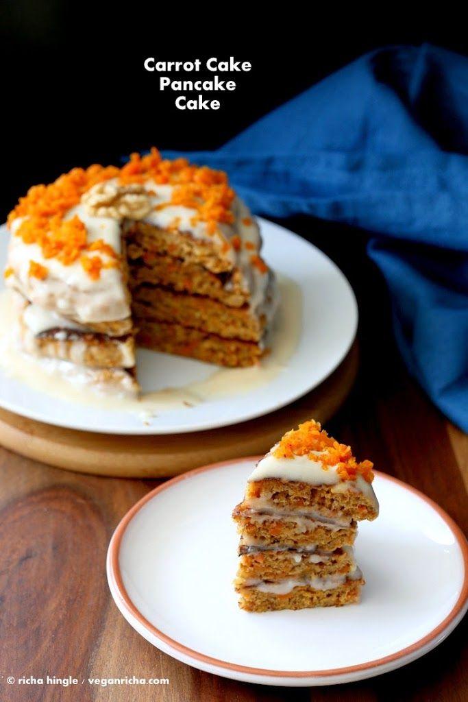 Vegan Carrot Cake Pancakes Recipe Carrot Cake Vegan Desserts