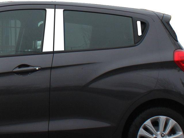 Spark 2016 2017 Chevrolet 4 Door 6 Pc Stainless Steel Pillar Post Trim Kit W Rear Pull Handle Pp56111