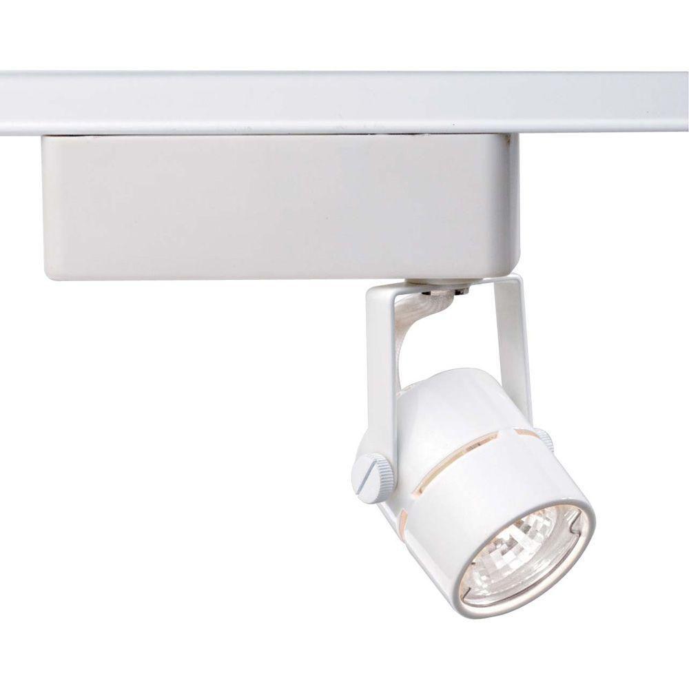 Glomar 1 Light Mr16 12 Volt White Round Track Lighting Head Hd Th234 The Home Depot