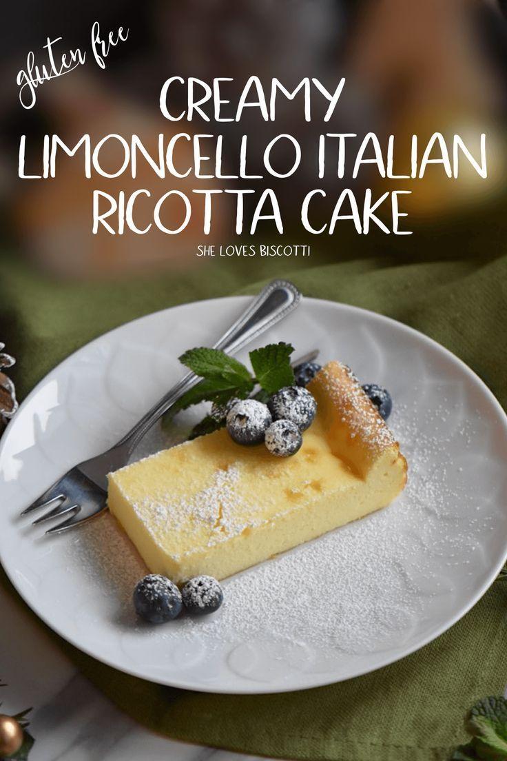 Creamy Limoncello Italian Ricotta Cake Recipe || Easy Italian Cake Recipe || Simple Italian Ricotta Cake  via @Loves_biscotti