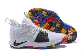 9ccce7231dd7 Zero Defect Nike PG 2 NCAA White Black Multi-Color AJ5164 100 Men s  Basketball Shoes Male Sneakers