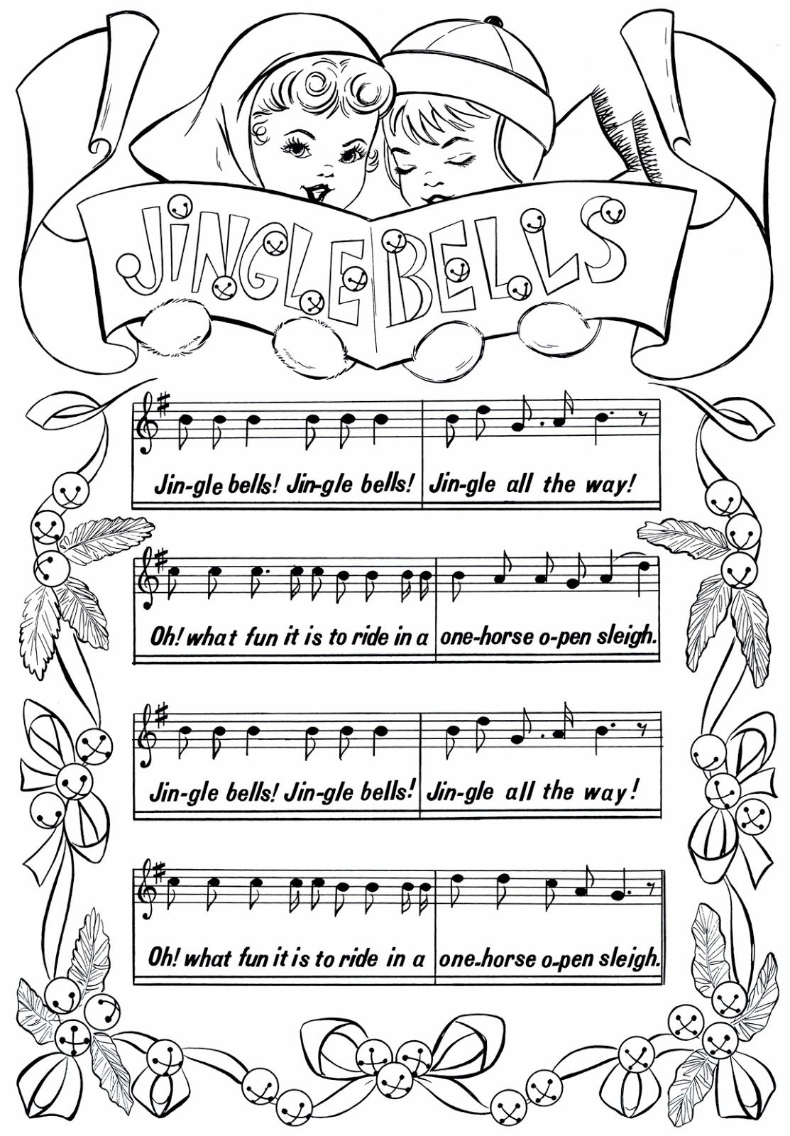 free printable jingle bells sheet music it is my opinion this