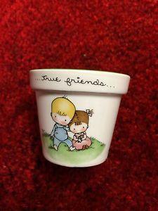 "Porcelain Little Flower Pot ""Joan Walsh Anglund"" 1974 Hallmark Pre Owned   eBay"