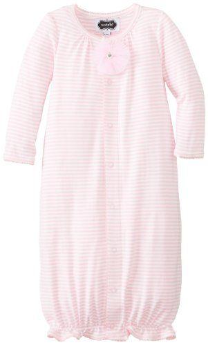 Mud Pie Baby-Girls Newborn Convertible Sleep Gown, Pink, 6-9 ...