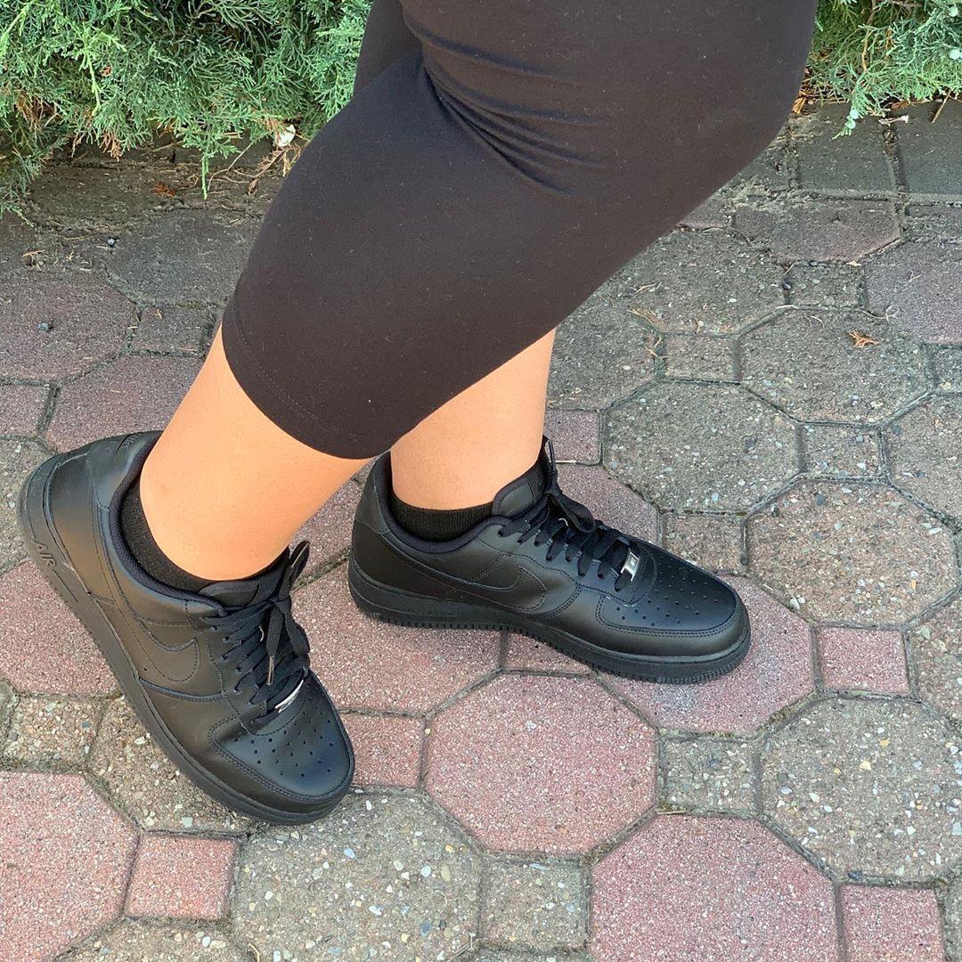 Rocking my Air Force 1s! * * * @imnextmodeling @nike @nikewomen * * * * * #imnextmodeling  #imnext #nike #nikeshoes #nikeairforce1 #june2020 #tuesday #tuesdayvibes #awesome #blackonblackonblack #aries #livingmybestlife #sneakers #sneakerhead #curvygirl #curvymodel #plussizemodel #thicc #stayhealthy #staysafe #anastasia #anastasiagalyon #smilingineverythingido #guessmysize #lovethese #sneakersaddict