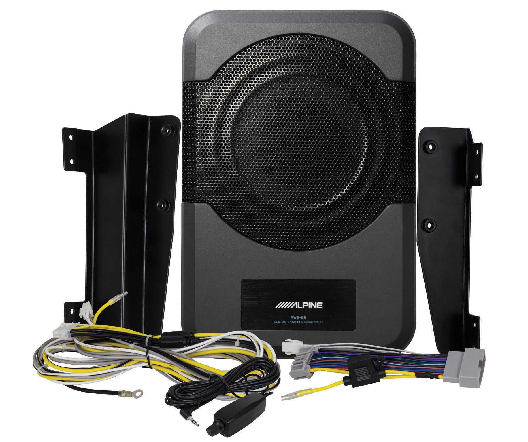 Alpine Pwe S8 Wra 8 Inch Compact Powered Subwoofer System For 11 17 Jeep Wrangler Jk Upgrade Unlimited Quadratec