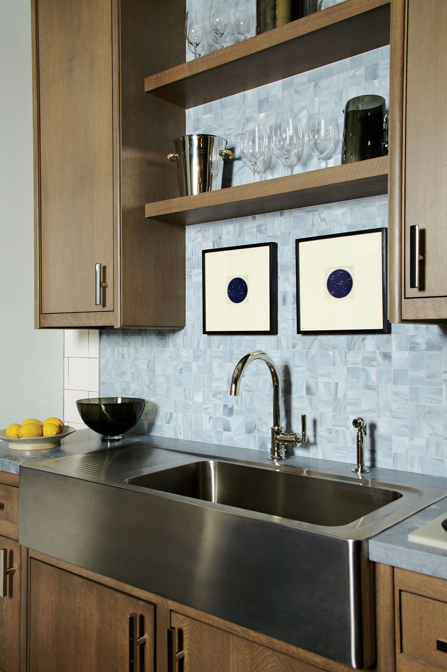 Henry Gooseneck Kitchen Faucet with Lever Handle and Spray   Henry ...