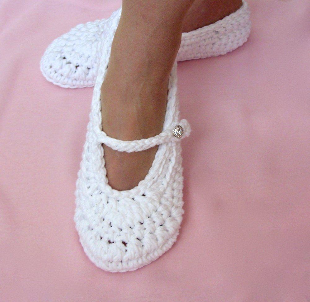 Photo of Wedding Slippers, Crochet Pattern, 22 — Lisa Corinne Crochet