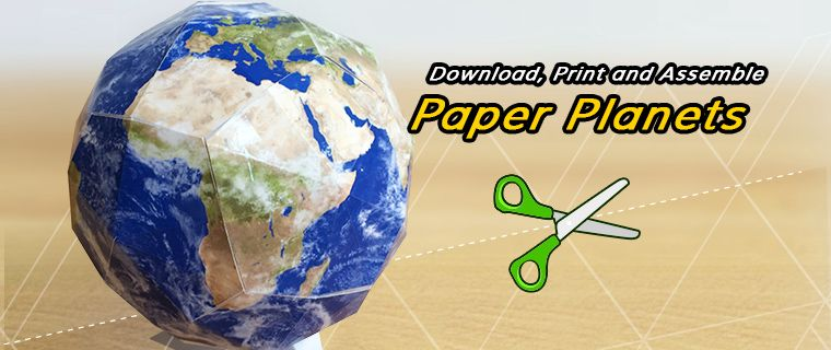 Download Print And Assemble Paper Planets Mother Earth