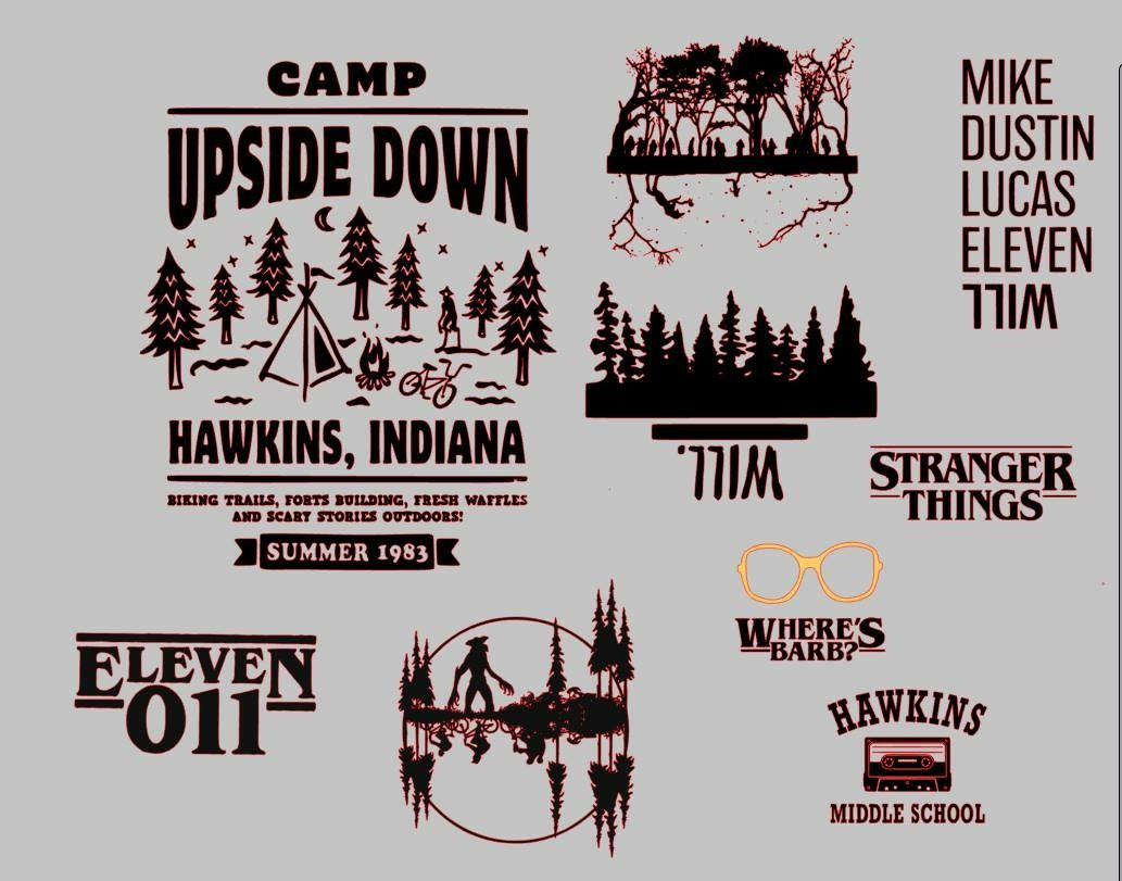 Pin By Tenika Cole On Silhouette Stranger Things Shirt Silhouette Diy Stranger Things Characters