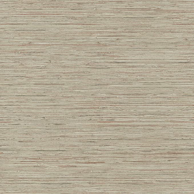 Roommates Pink Taupe Grasscloth Peel And Stick Removable Wallpaper Amazon Com Peel And Stick Wallpaper Grasscloth Grasscloth Wallpaper