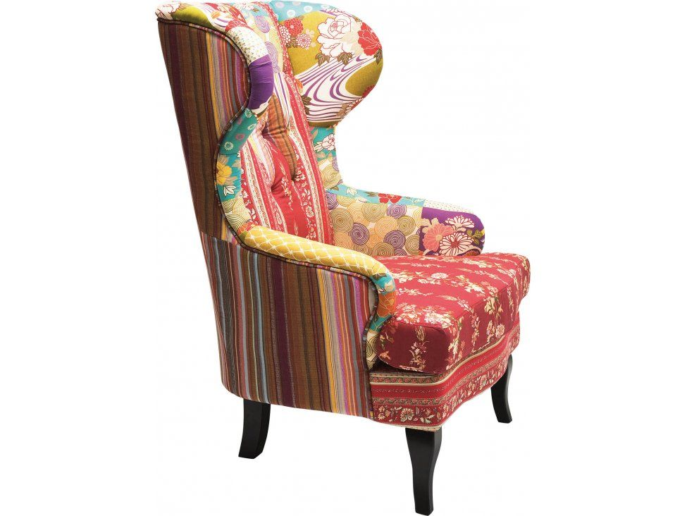 Sgabello patchwork ~ Fotel wing patchwork iii u fotele kare design u sfmeble pl