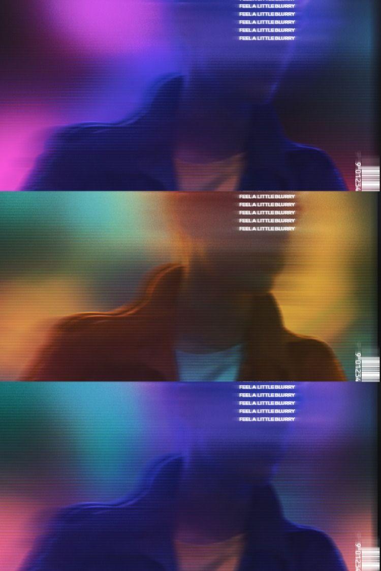 Blurry Neon Wallpaper Album Art Cover Design Photoshop