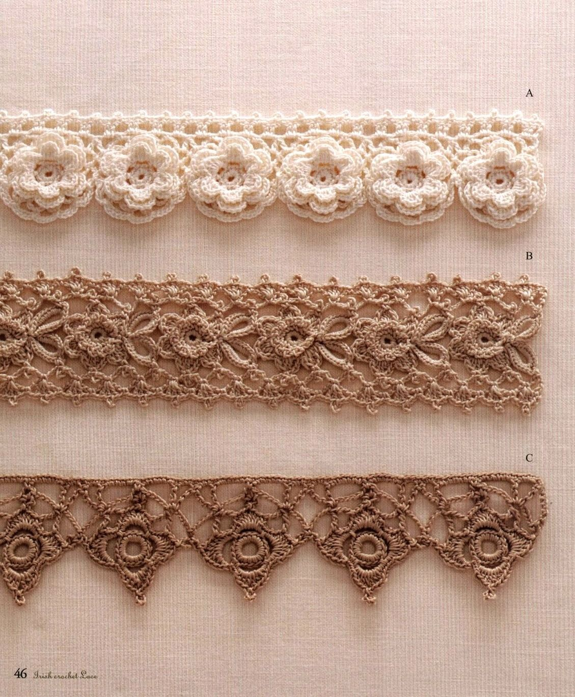 Crochet Lace Wedding Garter Pattern: Patrones De Galones Decorativos