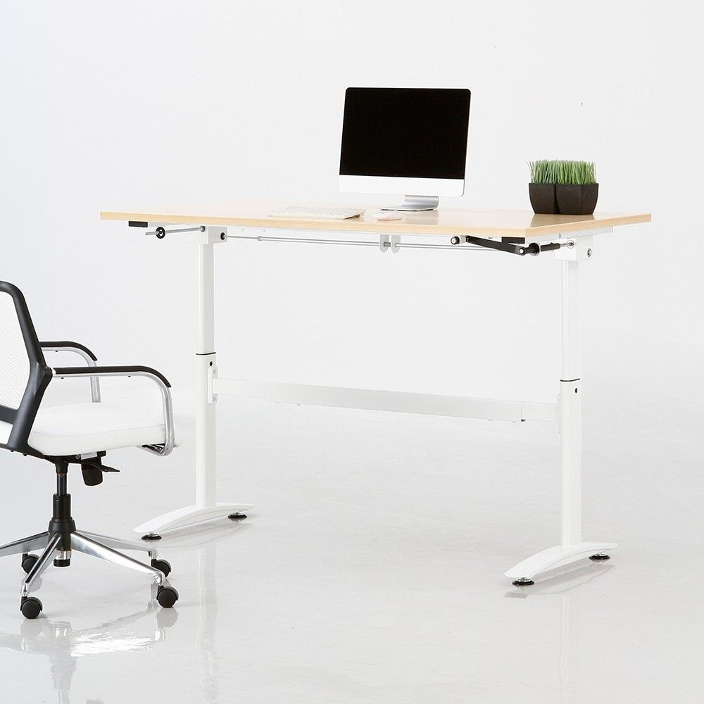 Pin By Featherlite Furniture On Height Adjustable Table Home Office Furniture Desk Best Home Office Desk Contemporary Home Office Furniture