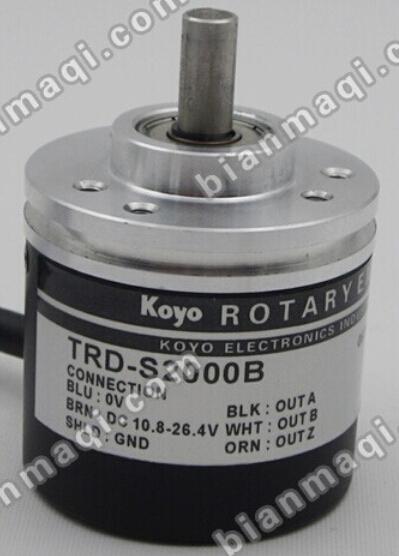 84.00$  Buy here - http://aliy9j.worldwells.pw/go.php?t=32565078829 - The new TRD-S2000B KOYO Koyo rotary encoder shaft diameter 6mm outer diameter of 38mm solid shaft