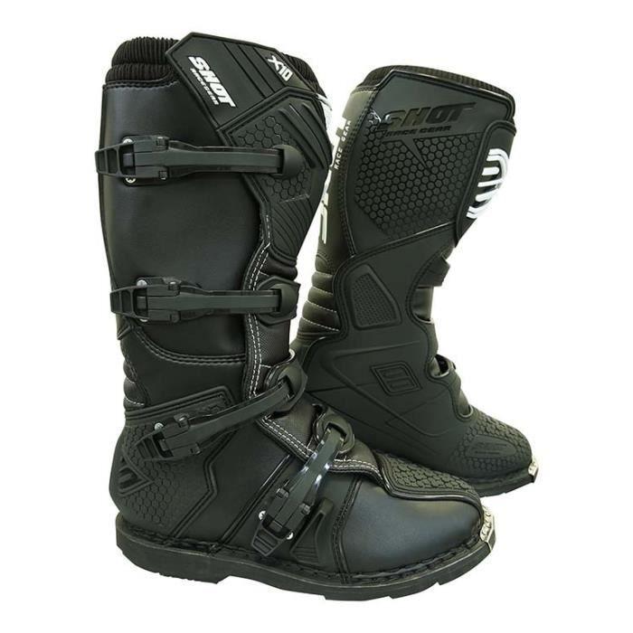 Photo of SHOT X10 Motocross Boots – Men – Black