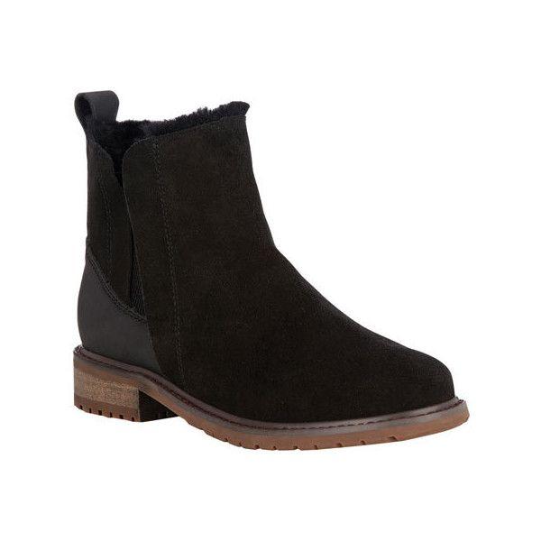 Women\u0027s EMU Pioneer Chelsea Boot - Black Waterproof Suede Casual