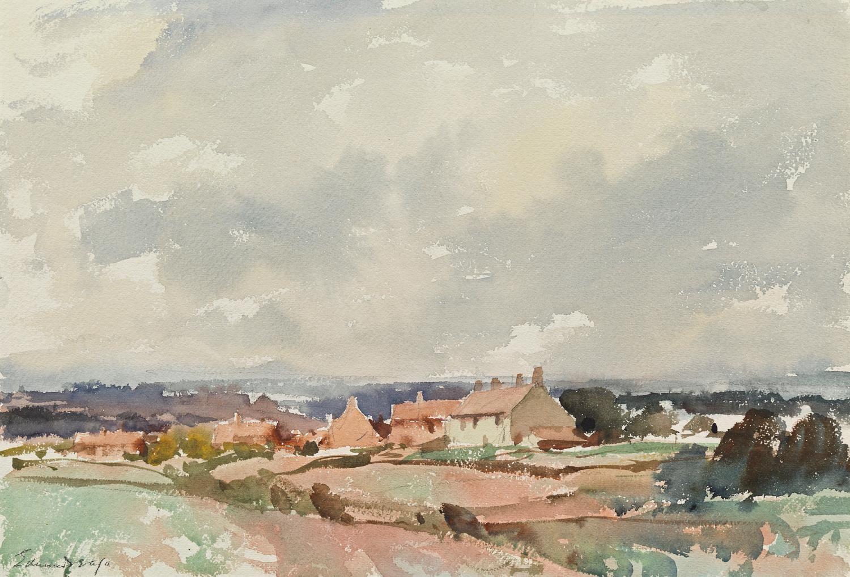 Edward Seago Norfolk Landscape Paisajes Acuarela Acuarela Pinturas