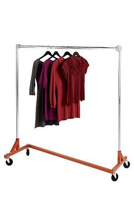 For The Storage Room Need 2 Industrial Z Truck Single Rail Rolling Racks Clothing Rack Salesman Clothing Commercial Clothing Racks