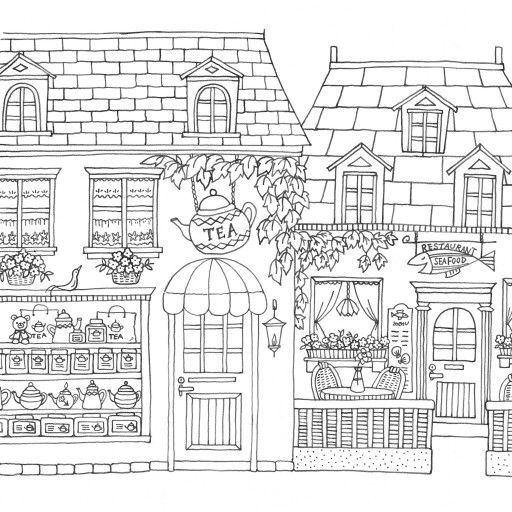 Tea Shop Coloring Page If Youre Looking For The Most Popular