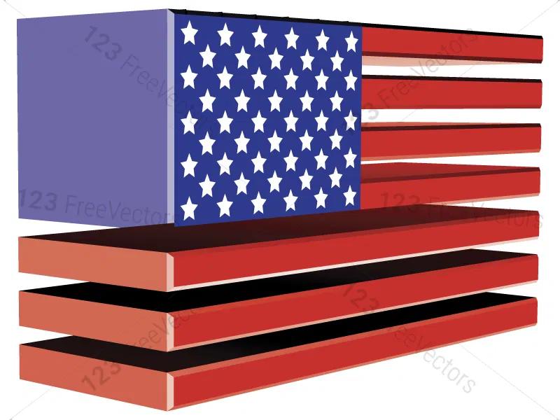 Usa Flags Vector Pack In 2020 Flag Vector Flag Usa Flag