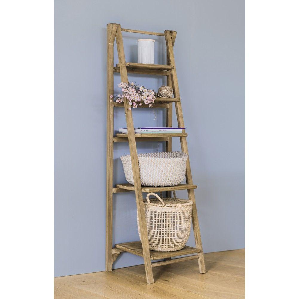 Fir wood ladder shelf unit w wooden ladder shelf wooden ladder