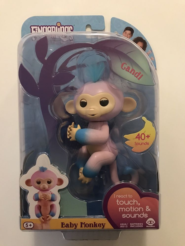 NEW IN A BOX Limited Edition FINGERLING BABY MONKEY Boris WowWee Blue Authentic