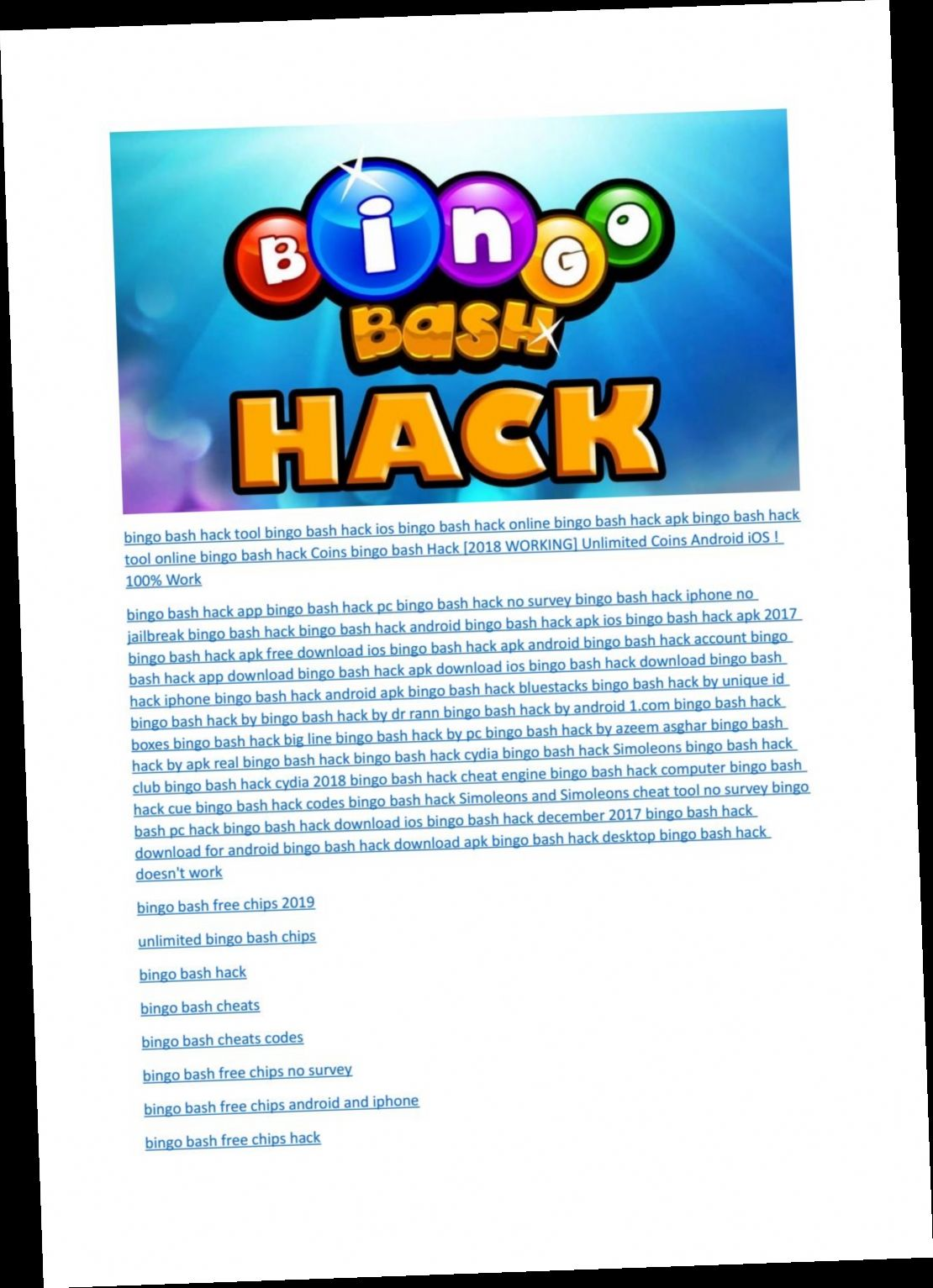 bingo bash iphone hack no survey в 2020 г