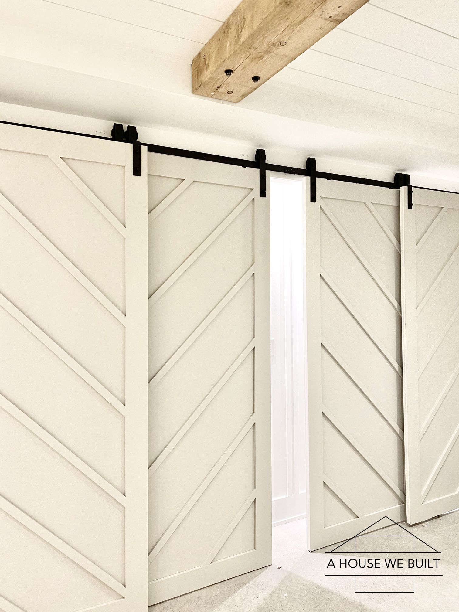 How To Build Bypass Barn Doors In 2020 Bypass Barn Door Barn Door Open Plan Kitchen Living Room