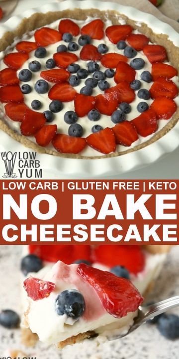 An easy to make keto low carb no bake cheesecake is the perfect dessert for summer. It holds up well in the summer heat with no need to turn the oven on. // cheesecake no bake // non bake cheesecake // cheesecake recipe // low carb cheesecake easy // low carb cheesecake recipes // keto recipe easy dessert // low carb dessert keto // gluten free desserts // gluten free desserts healthy //