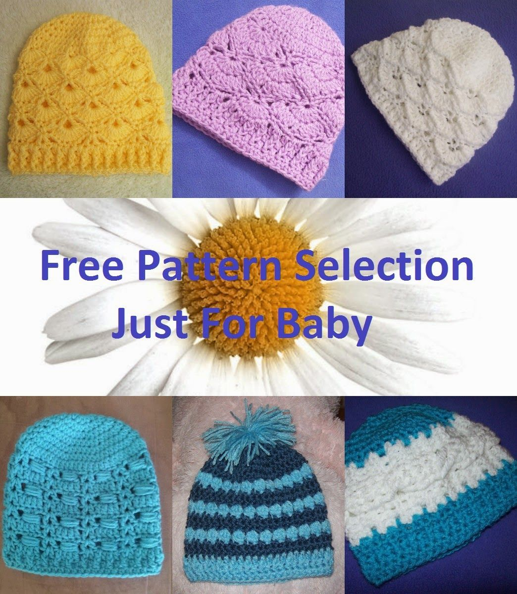 Free Crochet Hat Patterns Just For Baby | Häkelmützenmuster ...