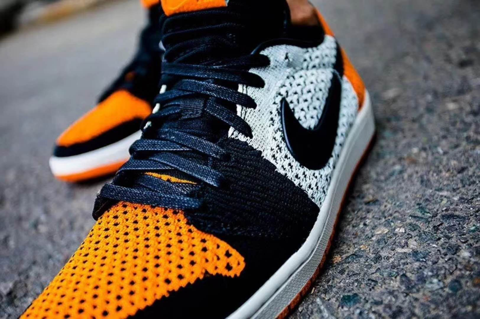 buy popular 4dd81 6832b Air Jordan 1 Low Flyknit  Shattered Backboard  On Feet and Real Shot Look
