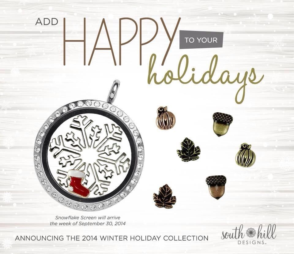 The holidays are coming, fill up your locket with these lovely charms.