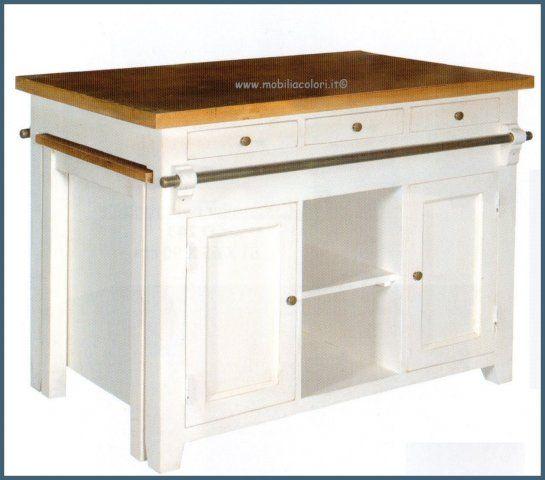 mobile isola cucina con tavolo estraibile cd245 al home