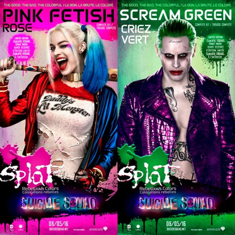 Splat Hair Color X Suicide Squad Giveaway Hair Coloring And Hair Dye