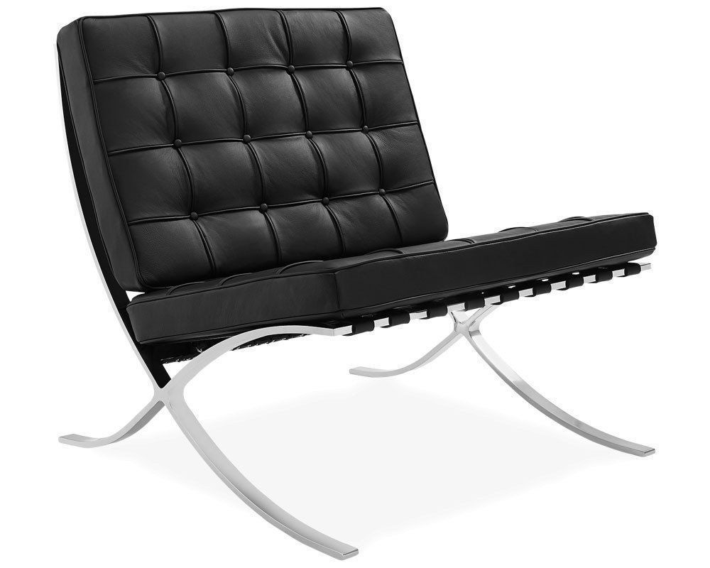 Barcelona chair replica black #barcelonachair barcelona chair