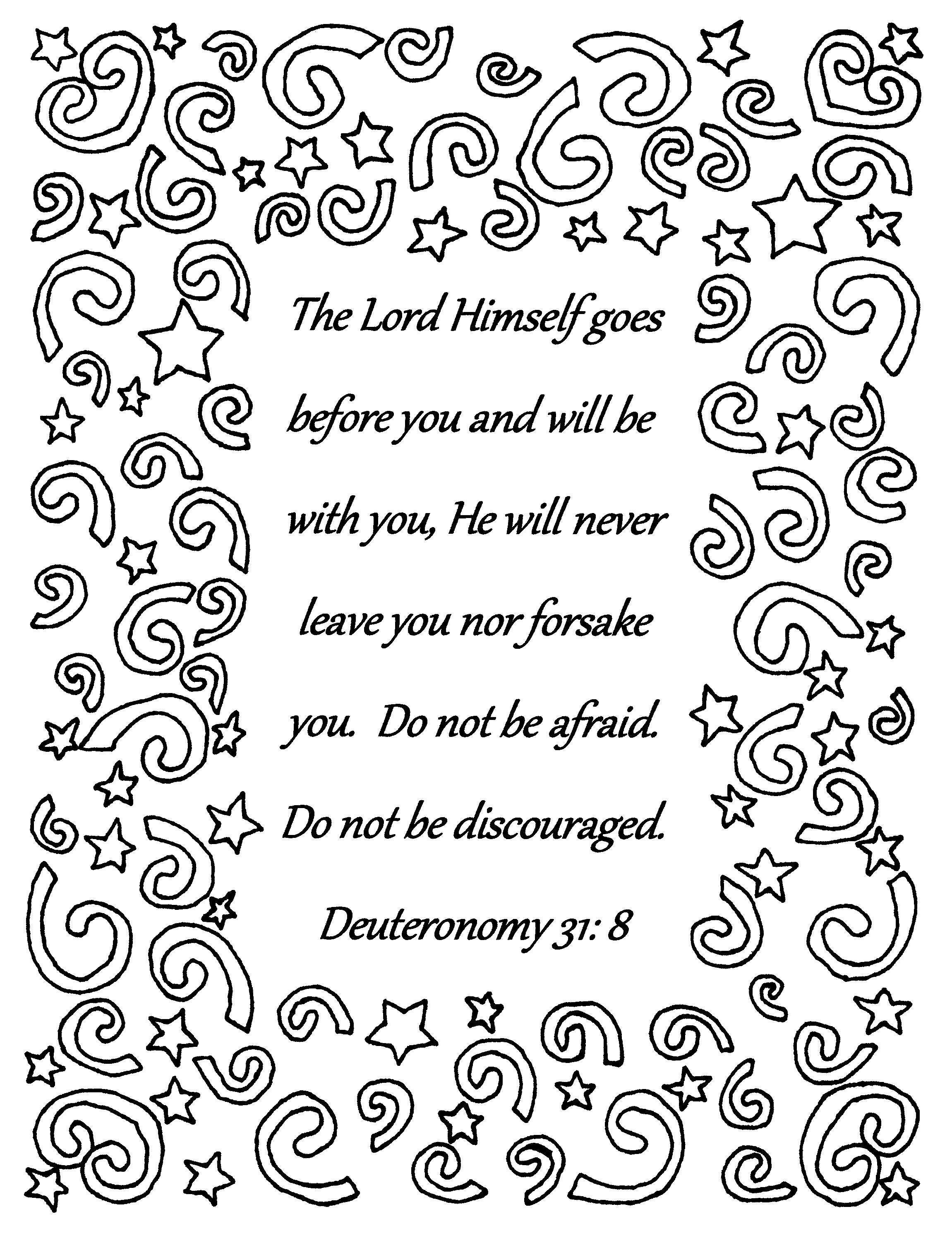 The Lord Himself Goes Before You Deuteronomy 31 8 Bible Verse