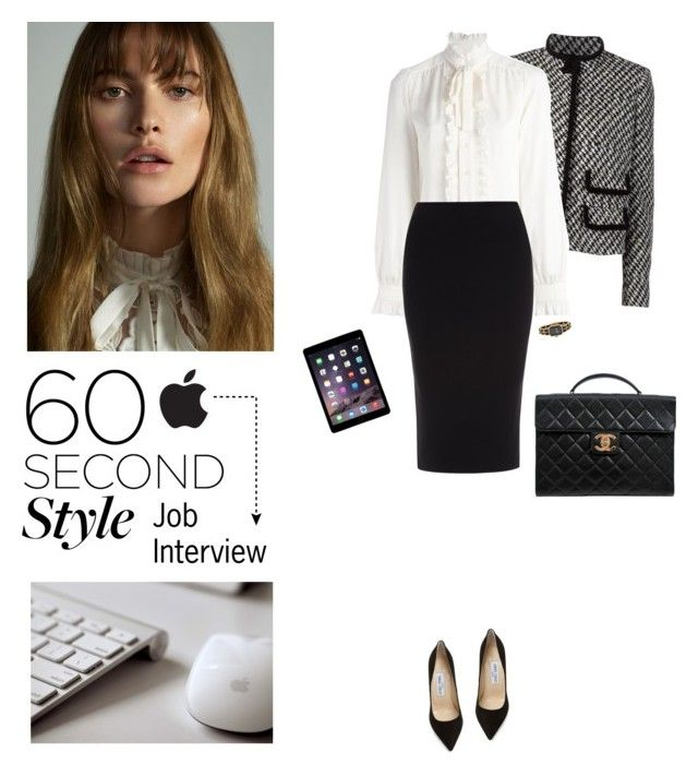 """""""60-Second Style: Tech Job Interview"""" by sarah-who ❤ liked on Polyvore featuring Giambattista Valli, Dolce&Gabbana, Roland Mouret, Chanel, Jimmy Choo, apple, 60secondstyle and techjobinterview"""