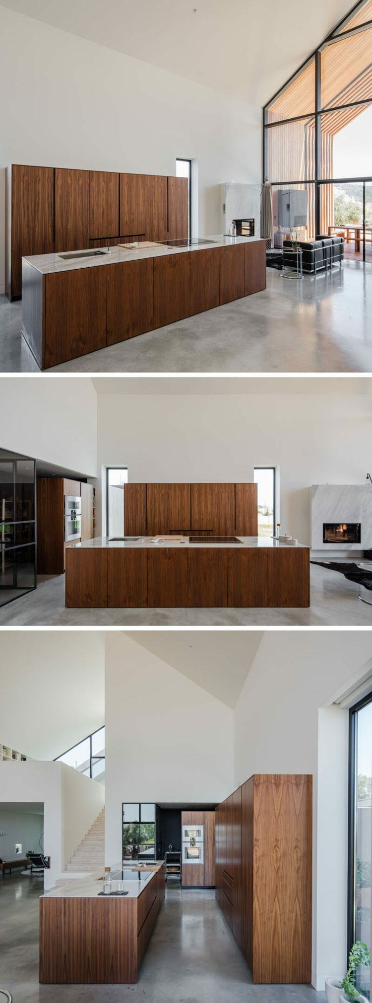 küche kochinsel geräumig hell küchenschränke #traumhäuser #modern ...