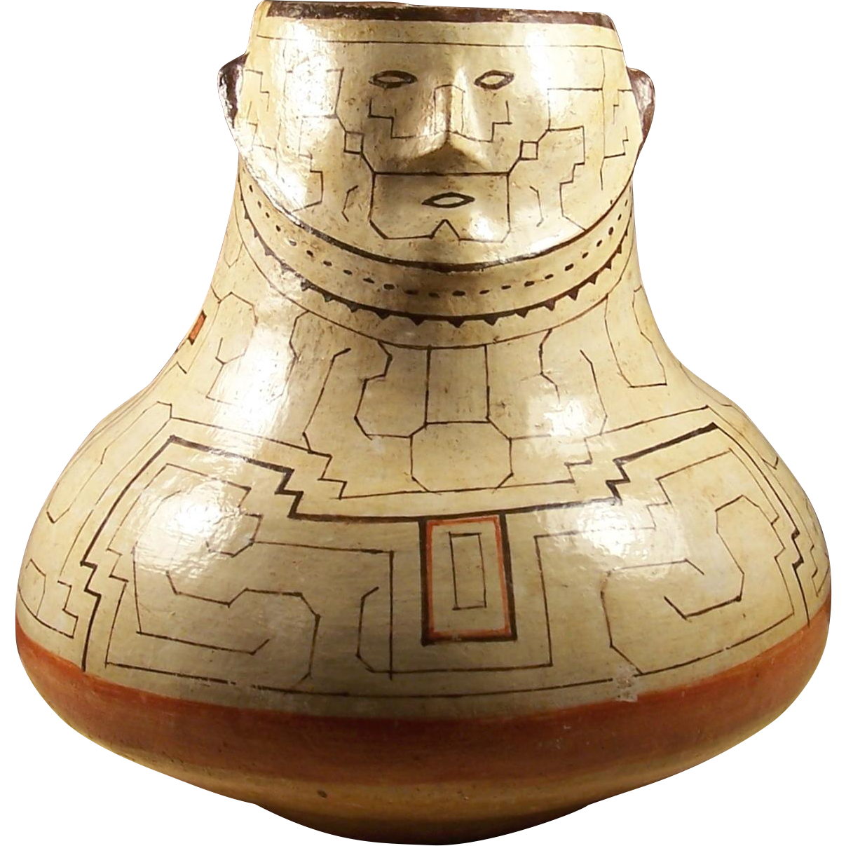 Large peruvian native amazon indian shipibo pottery male effigy shipibo conibo peru polychrome pottery olla effigy vase with face reviewsmspy